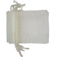 ingrosso sacchetti di nozze di nozze-100 PCS / lotto Avorio ORGANZA Sacchetti regalo Premium Wedding Party Favore Imballaggio Gioielli Sacchetti regalo