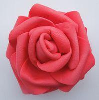 küsse köpfe großhandel-Großhandel 100 stücke 7 cm Handgemachte Künstliche Schaum Rose Blume Köpfe Für Hochzeit Dekoration Küssen Ball Kostenloser Versand