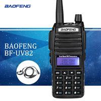 vhf walkie al por mayor-Baofeng UV82 walkie talkie uv 82 Radio portátil con auricular CB Ham Radio Vhf Uhf Doble banda Walkie-talkie Transceptor de dos vías