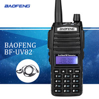 vhf uhf iki yönlü telsizler toptan satış-Baofeng uv82 walkie talkie uv 82 taşınabilir radyo kulaklık cb jambon radyo vhf uhf ile çift bant walkie-talkie iki yönlü telsiz