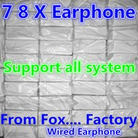 Wholesale original headphones - From Fox Factory Original Quality In Ear Earphone Wired headphone in ear headphones phone earphone With Remote Mic Control for 7 7 plus 8 X