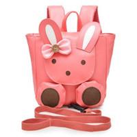 Wholesale Children S Backpack Cartoon - New Pink Rabbit Cartoon Children 'S School Bags Baby Girl Preschool Backpack Kindergarten Shoulder Bag Mochila Infantis for Age 1 -3