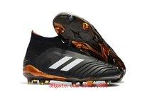 Wholesale Original Leather Soccer Boots - 2018 original soccer cleats Predator 18+ FG chaussures de football boots mens high top soccer shoes Predator 18 cheap new hot