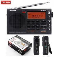 radio ssb aire al por mayor-Original Tecsun PL-450 Radio FM estéreo MW LW SW-SSB AIR de onda corta Conversión doble Radio Altavoz portátil FM PL450
