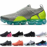 new products 9b036 29f53 Nike Air Vapormax Max Airmax VM MOC 2.0 Hommes Femmes Chaussures de course  Core Triple Noir Blanc Blé Gris Oreo Rouge Pas Cher Course Sport Sneaker ...