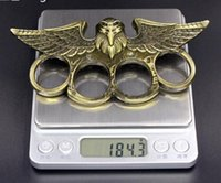 Wholesale punching ring for sale - Group buy Protective Gear new eagle Self Defense punch outdoor Buckle Survival pocket ring four finger brass Knuckle