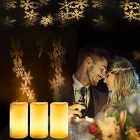 ingrosso candele decorative a batteria-Candele Led senza fiamma Set Candele elettriche a batteria Luce calda Home Decor Festività Decorative candele senza fiamma a pile LED a batteria
