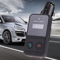 Wholesale Wireless Bluetooth Car Kit FM Transmitter MP3 Player LCD Display Support SD USB With Remote Control USB Car Charger