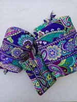 estojos de bolsa venda por atacado-Conjunto de 3 Algodão Zip Saco de Cosmética Bolsa de Viagem Lápis Caso Bolsa de Armazenamento Bolsa NWT