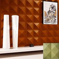 Wholesale ktv room decoration - Castle home ktv hotel cafe decoration style Waterproof Four diamonds Shape Designed Light-weight 3D PVC Wall Ceilling Panels