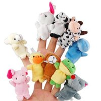 Wholesale Toy Story Bags Wholesale - 10pcs Velvet Finger Animal Toy Puppet Play Learn Story Party Bag Fillers Farm Zoo Hand puppet doll