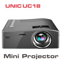 Wholesale home theater games resale online - Original Unic UC18 Mini LED Projector Portable Pocket Projectors Multi media Player Home Theater Game Supports HDMI P LCD USB TF Beamer