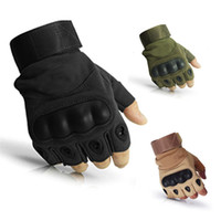 Wholesale tactical airsoft gloves resale online - Military Tactical Hard Knuckle Half finger Gloves Men s Army Combat Hunting Shooting Airsoft Paintball Police Duty Fingerless