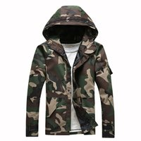 Wholesale camouflage womens jackets - HCXY Tactical Camouflage Jackets Men Windbreaker mens WomenS Lovers work Coats and jackets Chaqueta Hombre