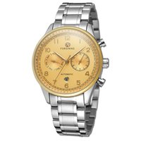 наручные часы оптовых-FORSINING Automatic Mechanical Watches Men Self Wind Auto Date Month Week Stainless Steel Business Wrist watch Relogio Masculino