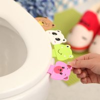 Wholesale Portable Toilet Seats - Bathroom Set Accessories Toilet Cover Clamshell Holder Device Toilet Lid Portable Handle Potty Ring Seat Opener