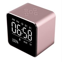 Wholesale a9 alarm resale online - V9 Mini Bluetooth Speaker FM Radio With Temperature LCD Display Screen Alarm Clock Wireless Stereo Subwoofer Music Player Update A9