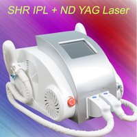 Wholesale multifunctional beauty equipment - Newest multifunctional beauty equipment 3 in 1 Elight+ OPT SHR + Nd Yag laser tattoo removal SHR hair removal machine
