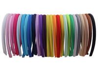 ширина оголовья оптовых-DIY атласная обложка повязки 1 см ширина 36 см размер круга хлопок крышка пластиковые Алиса ленты для волос повязки для девочек