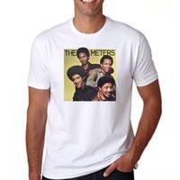 medidor hombre al por mayor-Camisetas estampadas Hipster Tee Algodón Cuello redondo Los contadores Camisetas de manga corta para hombres