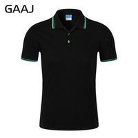 Wholesale wholesale famous brand clothes online - GAAJ High Quality Men Branded Shirt Short Sleeves Collar Solid Cotton Camisa s Homme Clothing Famous Brand