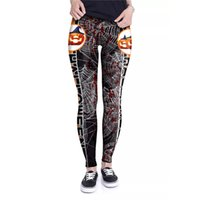 Wholesale super stretch yoga pants for sale - Group buy 2018 Black Yoga Pants Pumpkin Lamp Outwear Sport Legging High Waist Fitness Legging Elastic Super Stretch Leggings Halloween