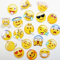 ímã novo do refrigerador venda por atacado-Nova Geladeira Emoji Adesivos acrílico Home Decor Geladeira Adesivos adesivos Decorativos 23 design Imã de Geladeira T2I102