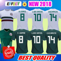 Wholesale Football Mexico - New 2018 Mexico Soccer Jersey Home 17 18 Green Away White CHICHARITO Camisetas de futbol H.LOZANO G.DOS SANTOS A.GUARDADO football shirts