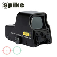 Wholesale green dot tactical rifle scopes for sale - Group buy Spike Tactical X22mm Holographic Reflex Red Green Dot Sight Outdoor Hunting Sight Scope Brightness Adjustable Black