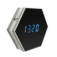 Wholesale Spy Mirror Clock Camera - 1080P WIFI Wireless Night vision Color Mirror Spy Clock Video recorder Wireless Clock security camera
