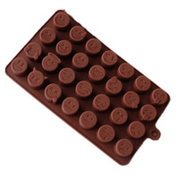 Wholesale heating chocolate for sale - DIY Candy Mould Heat Resisting Baking Tool Emoji Chocolate Silicone Mold Kitchen Accessories Pink cf C R