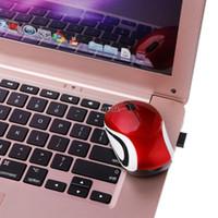 mavi dizüstü mini toptan satış-Mini 2.4 GHz 800-1600 DPI Kablosuz Optik Mouse Fare PC Dizüstü Notebook için Kırmızı, Turuncu, Mavi, Mor Bırak gemi