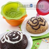 buzlanma boru nozülleri pasta ipuçları toptan satış-Mini Kek Boru Nozullar Pasta Buzlanma Çiçek İpuçları Kek Dekorasyon Ağız Krem Buzlanma Cihazı Krem Ağız 2 Memeleri 1 Kapak