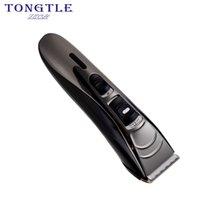 триммер аккумуляторной бритвы оптовых-Tongtletech профессиональный машинка для стрижки волос литиевая батарея 100-240 В машина для стрижки волос для парикмахера триммер бритва TW-9828