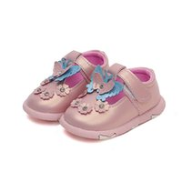 Wholesale baby white mary jane shoes online - Baby Casual Shoes Girls Shoes Leather Pink Mary Jane with Butterfly Children Good Quality Toddler for Walking