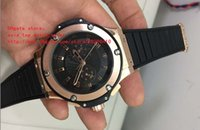 Wholesale high power watches - latest version Luxury Wristwatches 44mm Black King Power Diver Rose gold Automatic Mechanical High quality Mens Watch Watches