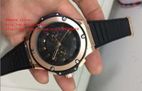 король механический оптовых-последняя версия Luxury Wristwatches 44mm Black King Power Diver Rose gold автоматические механические мужские часы высокого качества