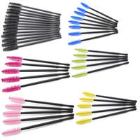 Wholesale tools for school - Eyelash Eye Makeup Brush Mini Mascara Wands Applicator Disposable Lash Curler Extension Tool Brushes For Women With Mix Color yr jj