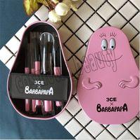 Wholesale makeup tools cute online - 2018 So cute CE X BARBAPAPA Makeup Brushes Kit set With Metal Case Mini Pink Brush professional Makeup Tools DHL