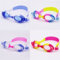 Wholesale kids diving toys online - Antifog Waterproof Swimming Goggles For Children Kids Diving Glasses Outdoor Water Sports Swim Eyeglasses Multicolor Optional ms YY