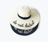 74a88eb5b3e 2018 Letter Embroidery Cap Big Brim Ladies Summer Straw Hat Youth Hats For Women  Shade sun hats Beach hat Free Delivery