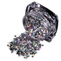 блеск наклейки звезды оптовых-1 Box Nail Sequins for Polish Decor Nail Glitter Art Star Flakes Stickers DIY Transparent Iridescent Art Decoration