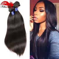 paquetes de pelo afroamericano al por mayor-Hannah Hair 8A Grade Brazilian Body Wave Bundles Weave Hair Human Bundles Pelo virginal brasileño para mujeres afroamericanas