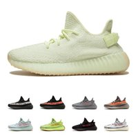 Wholesale mens running shoes best - Best Quality SPLY 350 V2 Boost 2018 Butter Semi Frozen Yellow Zebra Black Red Running Sports Shoes Boost Mens Sneakers With Box