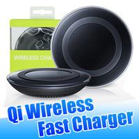 paquete de carga iphone al por mayor-Para Samsung Nota 10 Qi Wireless Adaptador universal del cargador de carga rápida para Galaxy S10 Plus S8 Note8 con cable micro empaquetado al por menor izeso