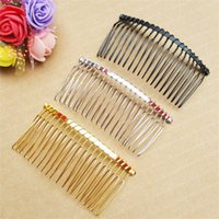 Wholesale diy handmade hair accessories for sale - Group buy Handmade Diy Dental Wire Twisting Metal Hair Comb Plated Vintage Women Interposing Combs Jewelry Accessories lj gg