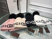 ingrosso le donne coreane del berretto da baseball-Cappello a maglia versione coreana per donne berretto da baseball doppio cappello di lana autunno e inverno cappello berretti caldi con scatola