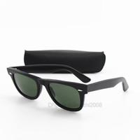 ingrosso grandi vetri quadrati-Il migliore marchio di qualità Plank Occhiali da sole per donna uomo occidentale classico stile quadrato UV400 mens nero grande angolo telaio G15 occhiali da sole con scatola