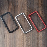Wholesale aluminum case for sale - Stock Magnetic Adsorption Metal Phone Case for iP Xr Xs Max X Plus Full Coverage Aluminum Alloy Frame with Tempered Glass Back Cover