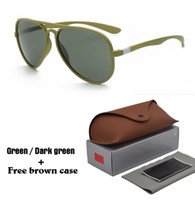 Wholesale Free Pc Protection - 1pcs Brand Designer Fashion Men Women Sunglasses UV400 Protection Sport Vintage Sun glasses Retro Eyewear With free box and cases